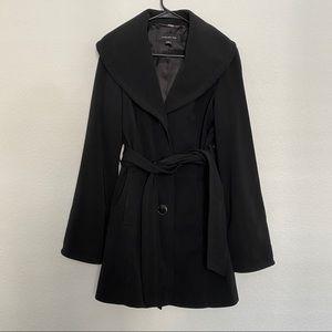 Jones New York trench coat black